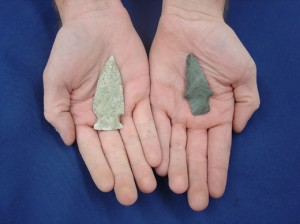 Woodland period projectile points from the New-McGraw site. (from <a href=