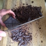 Chopping up Chocolate - Watch your fingers!