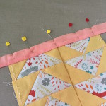 Pin your border strip to your quilt top