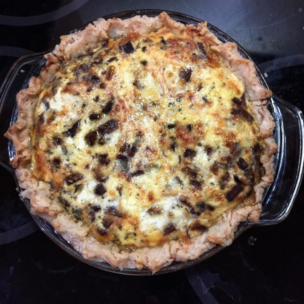 Oh my!! Fall quiche featuring pumpkin spice Gouda sauted butternuthellip