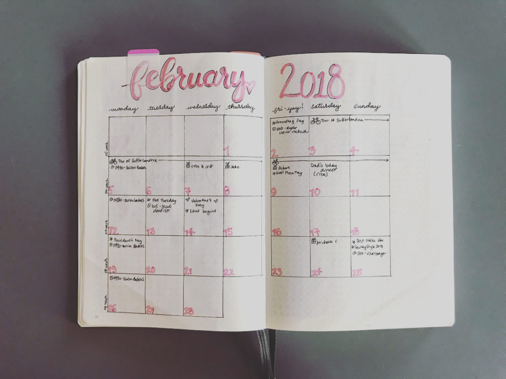 February setup is finally done! Trying out a new weeklyhellip